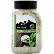 Соль морская запеченная с орегано «Organico» в солонке, 600 г.