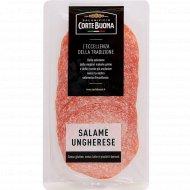 Изделие колбасное мясное сырокопченое «Ungherese» салями, нарезка, 80 г