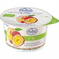 Десерт творожный «Молочный Гостинец» персик-маракуйя 7%, 125 г.