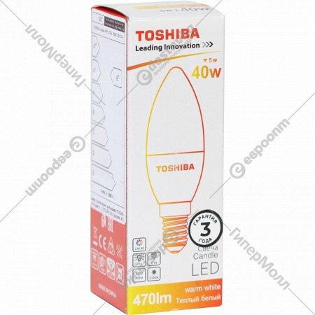 Лампа светодиодная «Toshiba» Candle, 40W, 2700K, CRI80 ND E14.