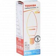 Лампа светодиодная «Toshiba» Candle, 40W, 4000K, CRI80 ND E14.