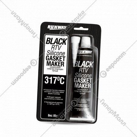 Силиконовый герметик-прокладка черный 85г RW8501.