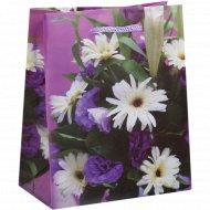 Пакет подарочный «Цветы» в ассортименте.