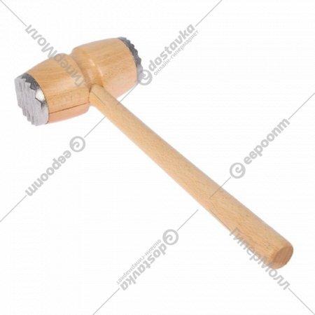 Молоток деревянный с металлическим наконечником.