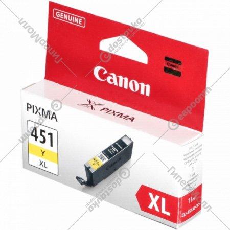 Картридж «Canon» CLI-451 XL Y 6475B001.