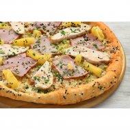 Пицца «Гавайская» на толстом тесте, 1/600  г.