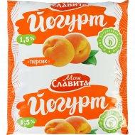 Йогурт «Моя Славита» персик, 1.5%, 500 г