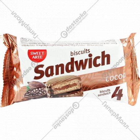 Печенье сахарное «Sandwich Cocoa» 100 г.