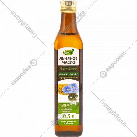 Масло льняное нерафинированное «Элитное» 0.5 л.