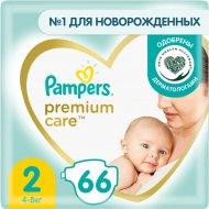 Подгузники «Pampers» Premium Care, размер 2, 4-8 кг, 66 шт.