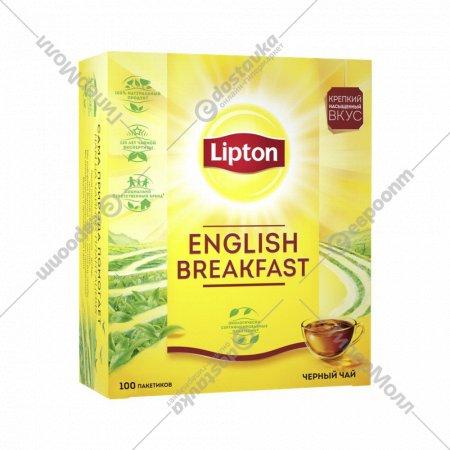 Чай черный «Lipton» английский завтрак 100 пакетиков.
