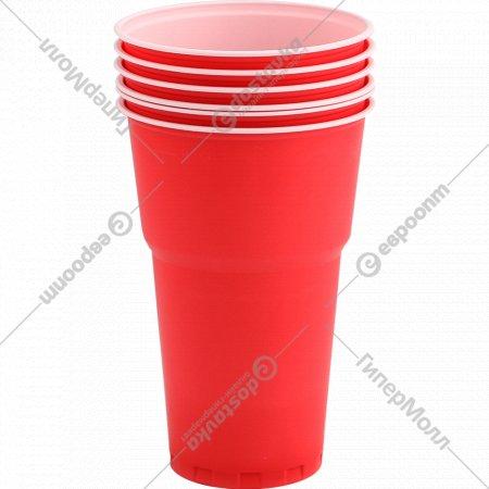 Набор стаканов одноразовых 6 шт, 500 мл.