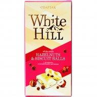 Шоколад белый «Спартак» с фундуком и бисквитными шариками, 90 г