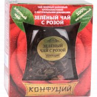 Чай зеленый листовой «Конфуций» с розой, 50 г.