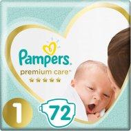 Подгузники «Pampers» Premium Care, 2-5 кг, размер 1, 72 шт.