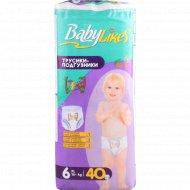 Трусики-подгузники «Baby Likes» ХL, размер 6, 16+ кг, 40 шт.