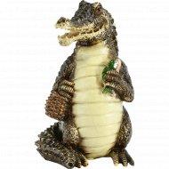 Статуэтка пластмассовая «Крокодил» 9 х 9.5 х 15.5 см.