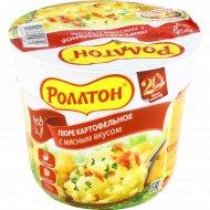 Пюре картофельное «Роллтон» с мясным вкусом, 40 г.