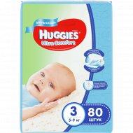 Подгузники «Huggies» Ultra Comfort для мальчиков, размер 3, 5-9 кг, 80 шт.