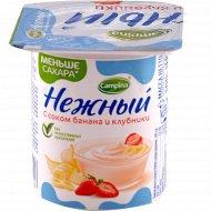 Продукт йогуртный «Нежный» банан и клубника, 1.2 %, 100 г.
