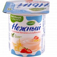 Продукт йогуртный «Нежный» банан и клубника 1.2 %, 100 г.