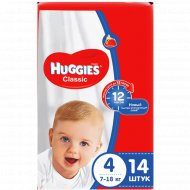 Подгузники «Huggies» Classic размер 4, 7-18 кг, 14 шт.