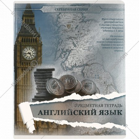 Тетрадь предметная «Английский язык» клетка, 48 листов.