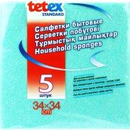 Салфетки бытовые «Tetex Standard» 34 Х 34 см, 5 шт.