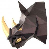 Набор для творчества «Голова трофейная» носорог Рок, чёрная медь