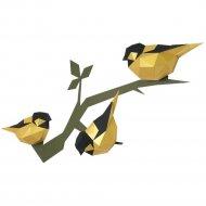 Набор для творчества «Декор на стену» птички, золотой
