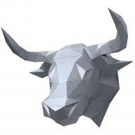 Набор для творчества «Декор на стену» бык Алёша, серебряный