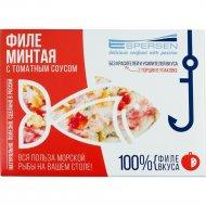 Филе минтая с томатным соусом, 365 г.