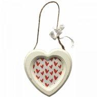 Декоративная фоторамка «Сердце» на веревке, 9.3х9.4 см.
