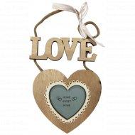 Рамка для фото декоративная «Сердце» 7х6.5 см.