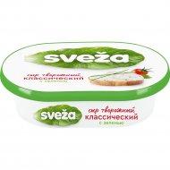 Сыр творожный «Савушкин» с зеленью и луком, 60%, 150 г.
