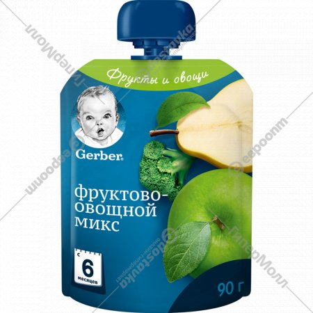Пюре «Gerber» фруктово-овощной микс, 90 г.
