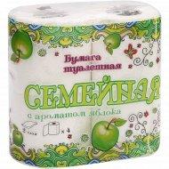 Бумага туалетная «Семейная» с ароматом яблока, 4 рулона.