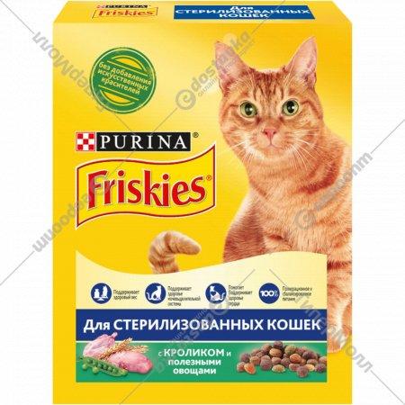 Корм для стерилизованных кошек «Friskies» кролик и овощи, 300 г.