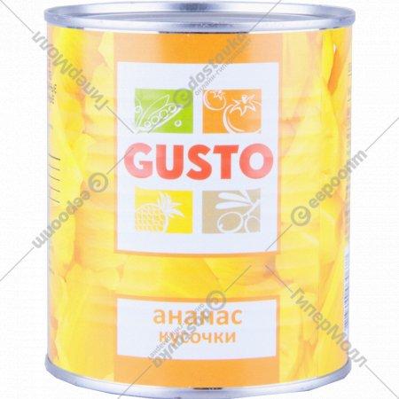Ананасы «Gusto» кусочки в сиропе 820 г