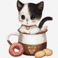 Картина по номерам «Picasso» Котенок в чашке №1, PC3030001