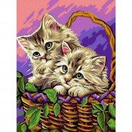 Картина по номерам «Picasso» Котята в лукошке, PC3040047