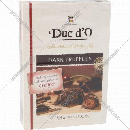 Бельгийские трюфели «Duc d'O» горький шоколад c вишней 100 г.
