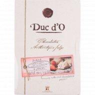 Бельгийские трюфели «Duc d'O« белый шоколад с клубникой 100 г.