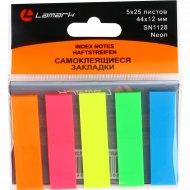 Самоклеящиеся закладки «Lamark» Neon, 44x12 мм.