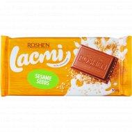 Шоколад молочный «Lacmi» с сезамом, 90 г.