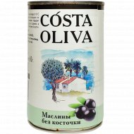 Маслины «Costa oliva» консервированные, без косточки, 314 мл.