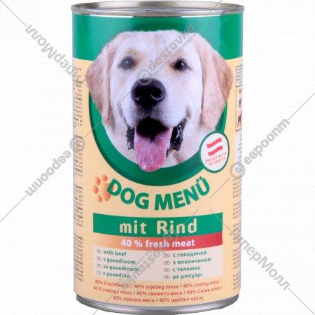 Корм для собак «Dog Menu» с говядиной, 1240 г.