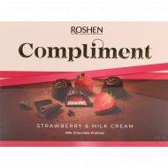 Конфеты шоколадные «Roshen» Compliment с клубнично-молочной начинкой, 123 г.