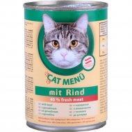 Корм для кошек «Cat Menu» с говядиной, 415 г.