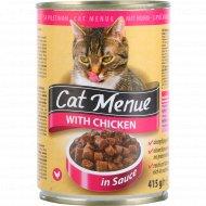 Корм для кошек «Cat Menu» с курицей, 415 г.